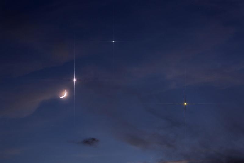 Conjunction of the Moon and Venus | Astronomia y Astrofotografia